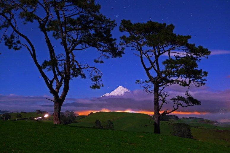 1. Mt Taranaki under full moon