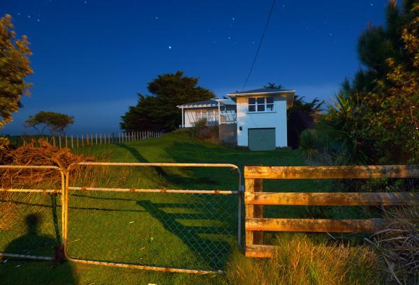 7. One a.m. and the last house on the street, Waikawa