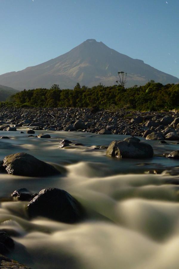 5. Stony River (Hangatahua) by moonlight, Taranaki