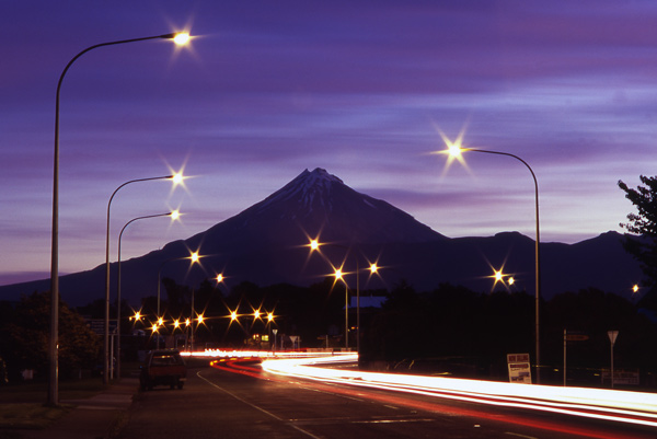 4. Twilight view from South Rd, New Plymouth