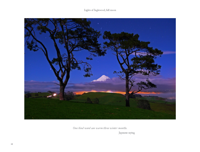 Night Visions, New Zealand Photo Book by Barney Brewster