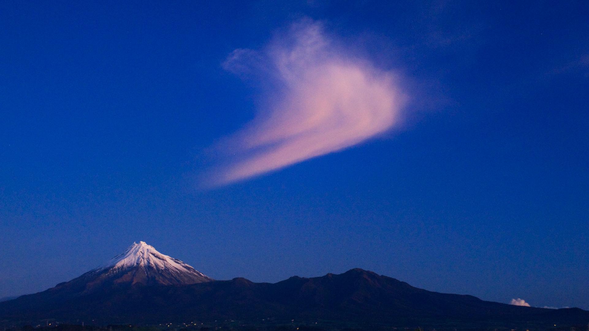 3002 Last glow over Mt Taranaki