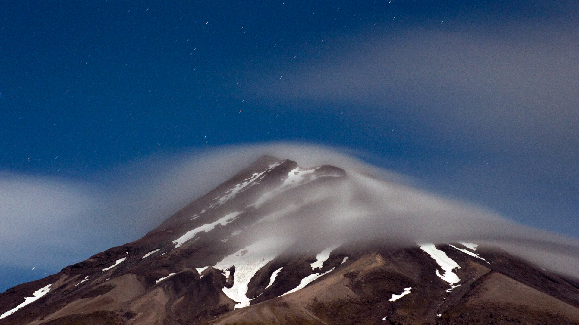 5307 Mt Taranaki by moonlight