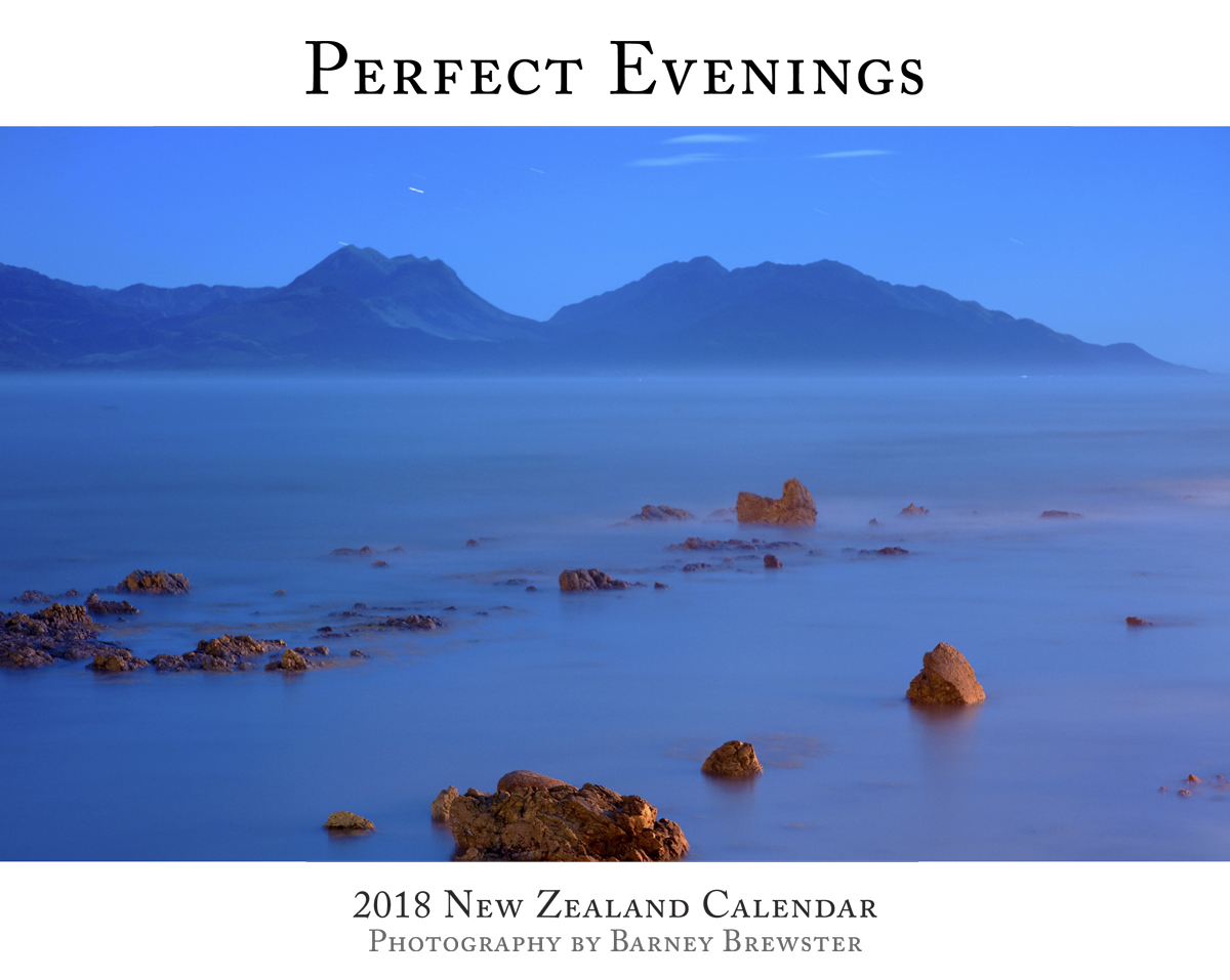 Perfect Evenings 2018 Calendar Front by Barney Brewster