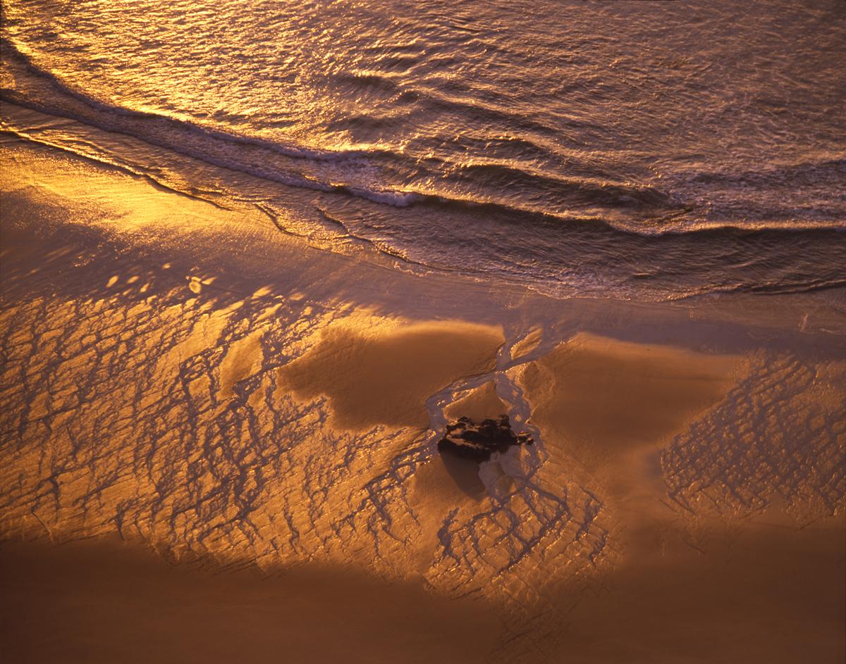 Low tide at Te Hapu, before sunset